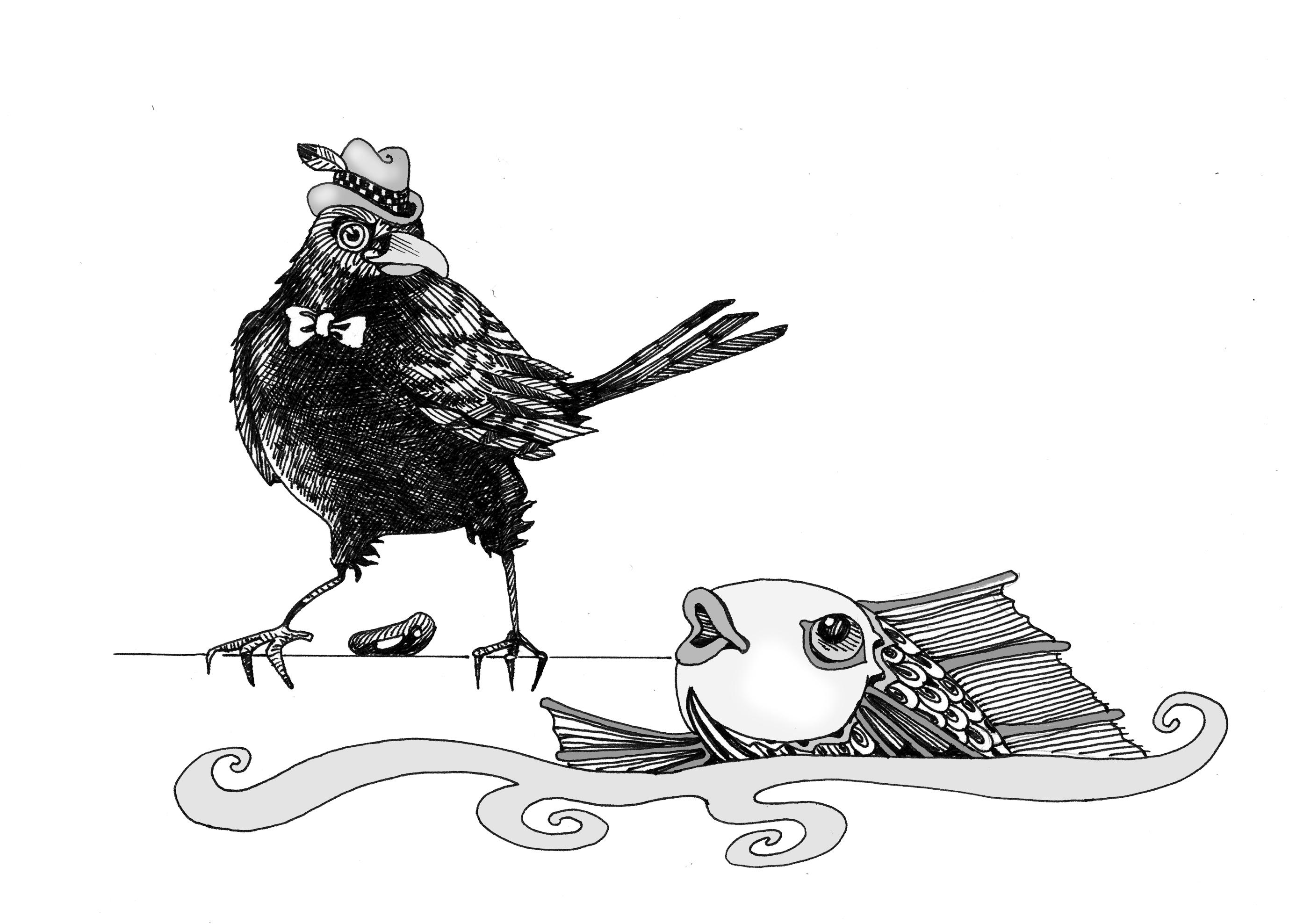black white illustrations dana simson design