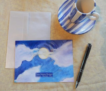 "Danasimson.com Back of ""friends"" Gift card with vellum envelope"
