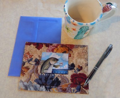 "Danasimson.com Back of ""No rEgrets"" Gift card with vellum envelope"