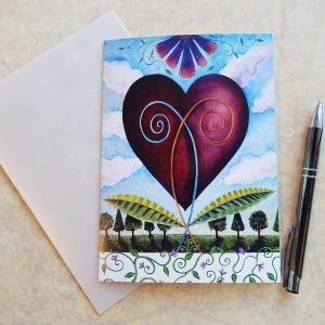 acknowledgement bloom together heart gift card with vellum envelope