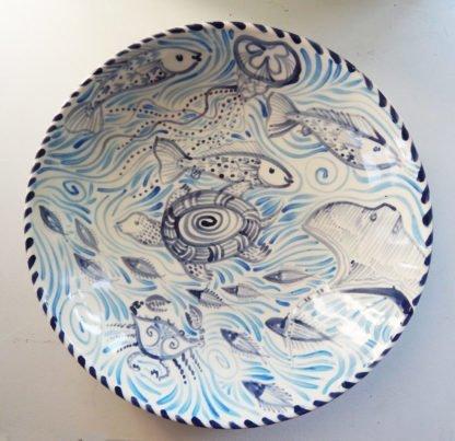 Chesapeake Bay ceramic serving bowl