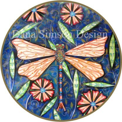 Danasimson.com Dragonfly car art sticker
