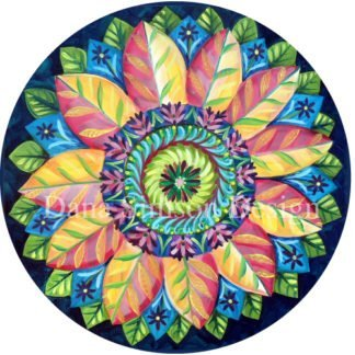 Danasimson.com Folk art flower car art sticker