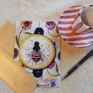 "Danasimson.com Gift card ""Just Bee"" with vellum envelope"