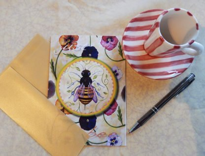 "Danasimson.com Gift card ""Just Bee"" with vellum envelope"