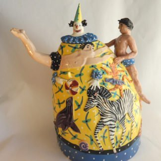 Danasimson.com My Life as a circus Teapot one side