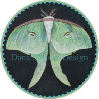 Danasimson.com Luna Moth car art sticker