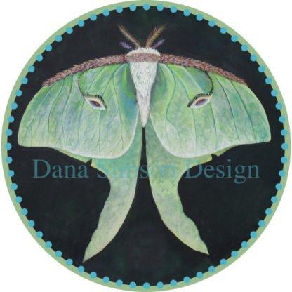 Danasimson.com Luna Moth car art sticker