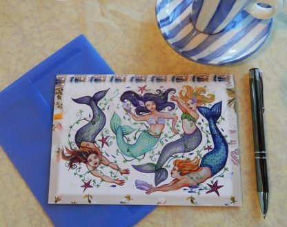 Danasimson.com Gift card mermaids with vellum envelope