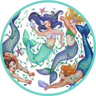Danasimson.com mermaids car art sticker