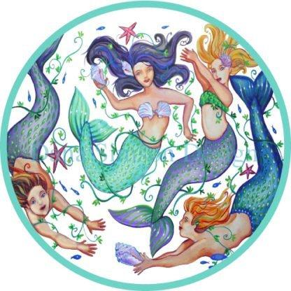 Danasimson.com mermaids car art sticker
