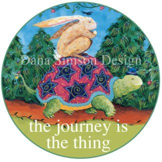 Danasimson.com Journey's the thing car art sticker