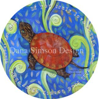 Danasimson.com turtle car art sticker