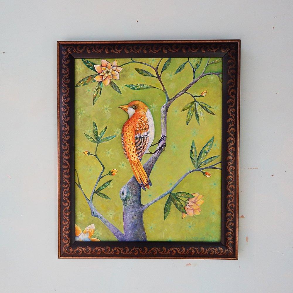 Golden Bird . Original Oil Painting - Dana Simson Design