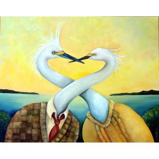danasimson.com art print Egrets love