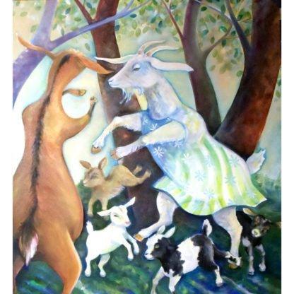 danasimson.com art print Goat family