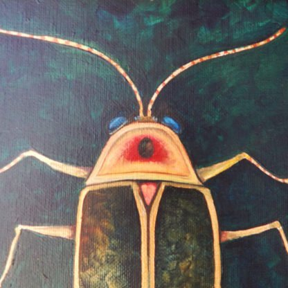 Danasimson.com original painting lightening bug head detail