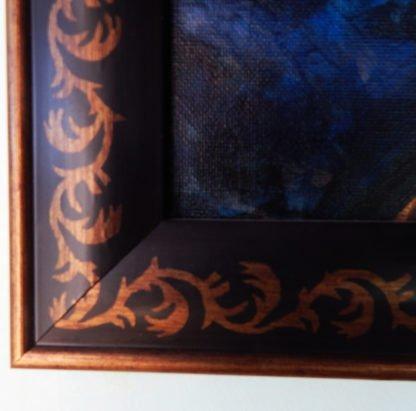 Danasimson.com original painting folk art frame detail