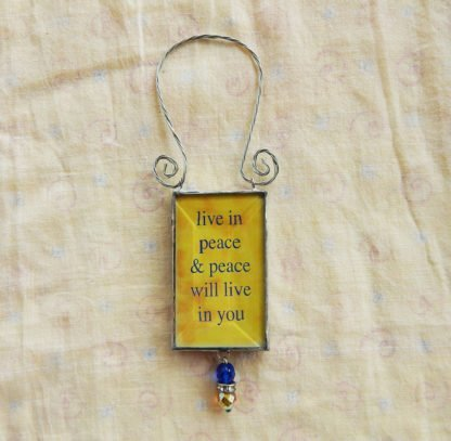 Danasimson.com double sided ornament peace quote