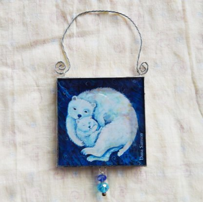 Danasimson.com double sided ornament polar bear image