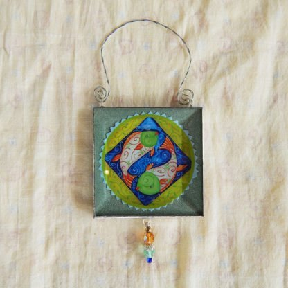 Danasimson.com double sided ornament ying-yang fish image
