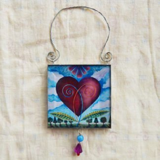 Danasimson.com double sided ornament heart image