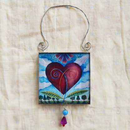 Danasimson.com double sided ornament heart image
