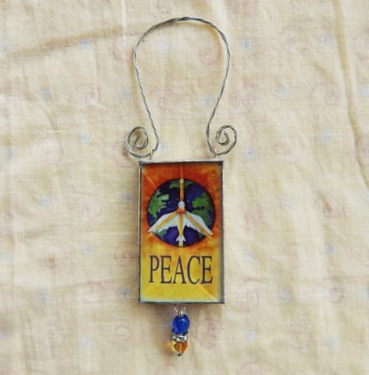 Danasimson.com double sided ornament peace