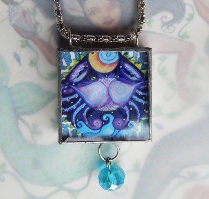 Danasimson.com double sided crab pendant