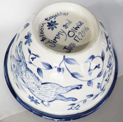 Danasimson.com happy nest bowl custom message