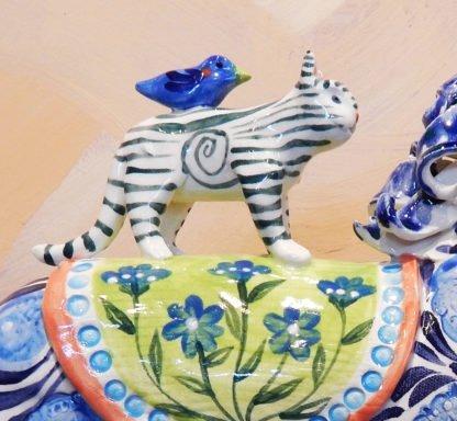 Danasimson.com circus horse rider cat