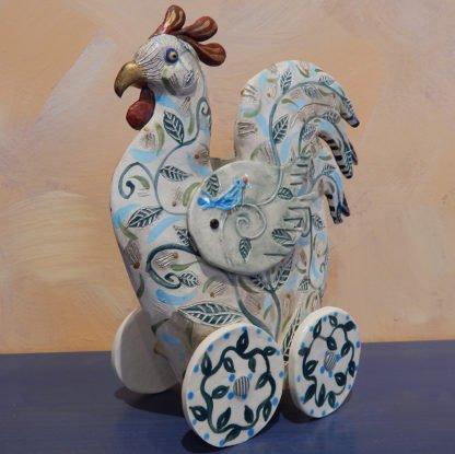 Danasimson.com rolling rooster sculpture