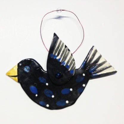 Danasimson.com black crow ornament