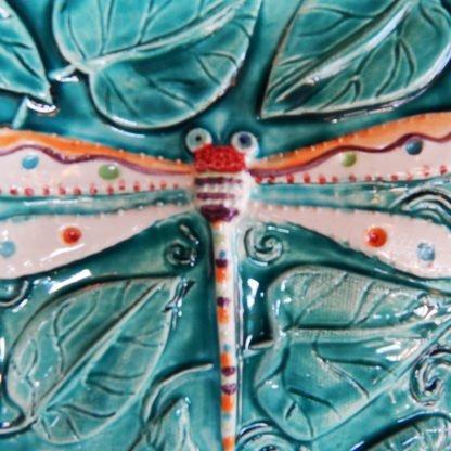 Danasimson.com detail dragonfly relief plate