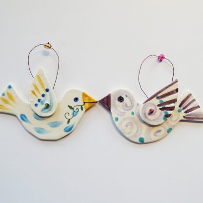 Danasimson.com Bird ornaments
