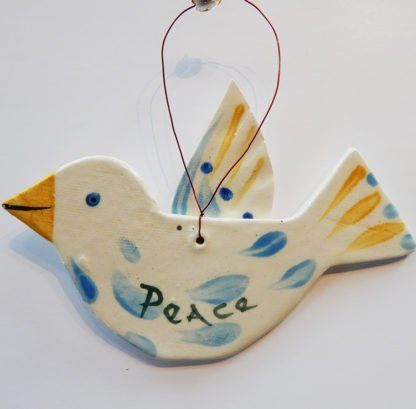 Danasimson.com Bird ornament back Peace dove