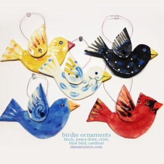 Danasimson.com 5 bird ornaments mix