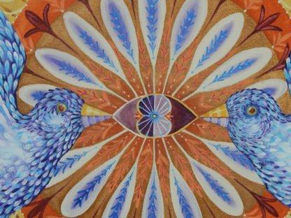 "Danasimson.com ""Love is Symetrical"" painting detail"