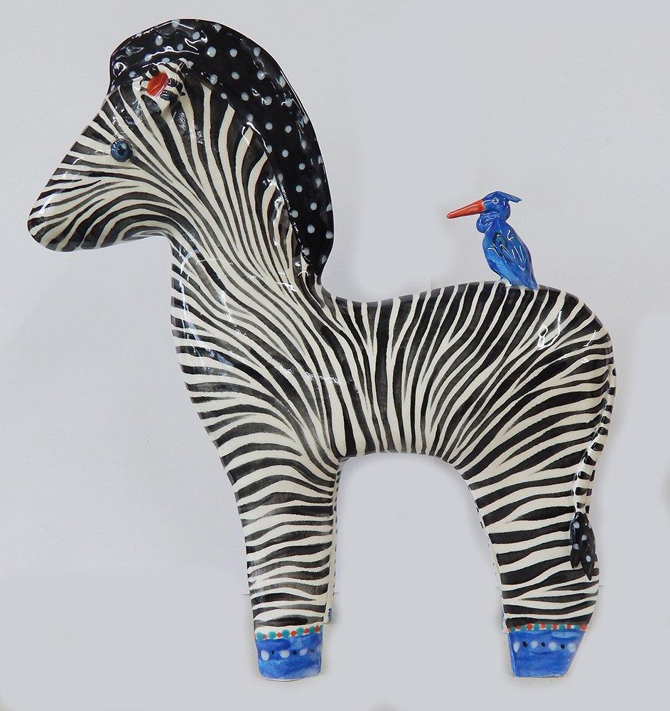 Large Ceramic Zebra Sculpture Dana Simson Design