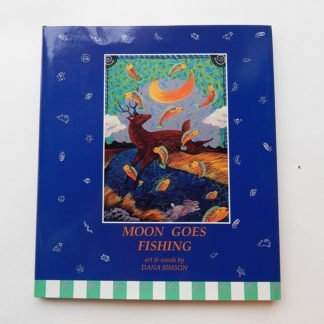 "Danasimson.com Hard cover picture book ""Moon Goes Fishing"""
