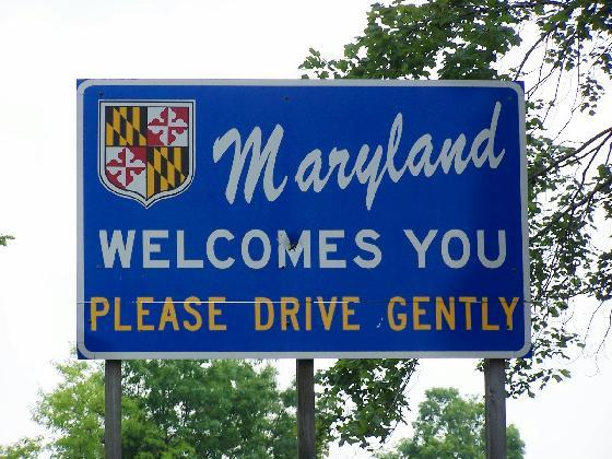 maryland highway sign to please drive gently