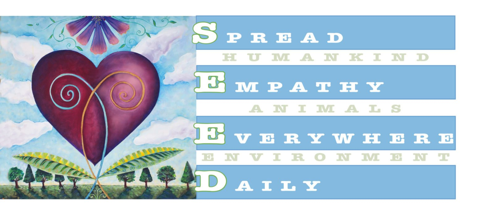 acknowledgement empathy bloom together heart with Seed Logo