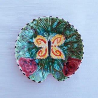 Danasimson Handmade ceramic butterfly garden spoon rest