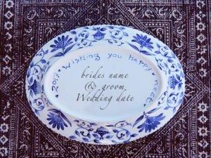 Dana Simson Design - custom wedding large platter happy nest
