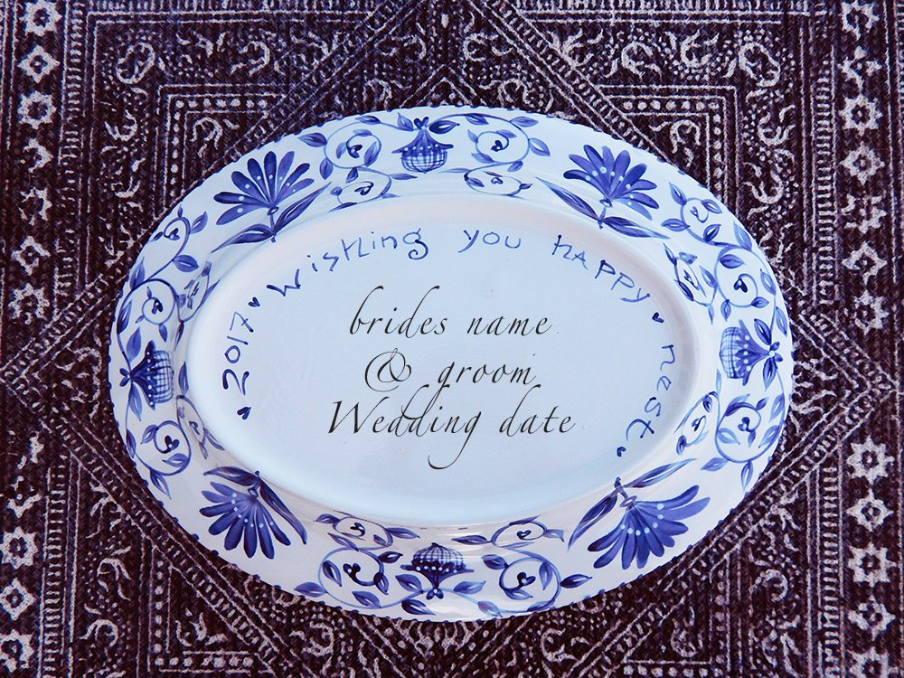 Dana Simson Design - custom wedding large platter happy nest