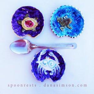 handmade ceramic spoon rests