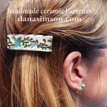 handcrafted ceramic hair clips birdie