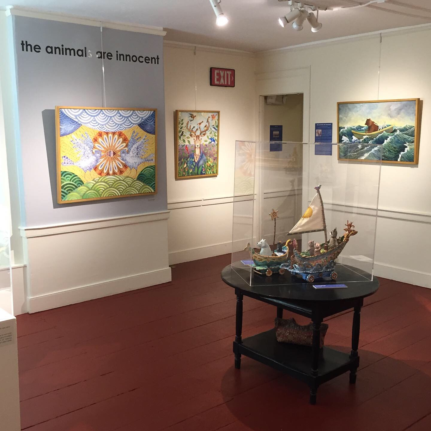 exhibit at Henry Sheldon Museum